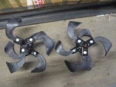 Rotavator Replacement 2 Tine Set. Complete Spare Tine Set for Neilsen Tiller.